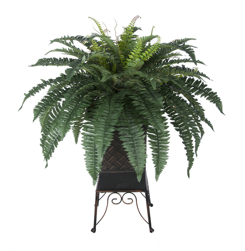 Artificial Fern in Small Planter Stand - House of Silk Flowers®  - 1