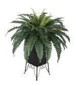 Artificial Fern in Small Planter Stand - House of Silk Flowers®  - 2
