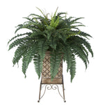 Artificial Fern in Small Planter Stand - House of Silk Flowers®  - 3