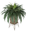 Artificial Fern in Small Planter Stand - House of Silk Flowers®  - 4