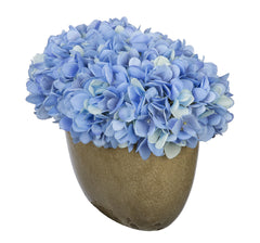 Artificial Hydrangea in Tan Crackle Vase - House of Silk Flowers®  - 8