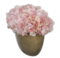Artificial Hydrangea in Tan Crackle Vase - House of Silk Flowers®  - 20