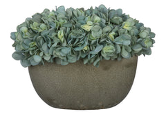 Artificial Hydrangea in Grey Crackle Vase - House of Silk Flowers®  - 5