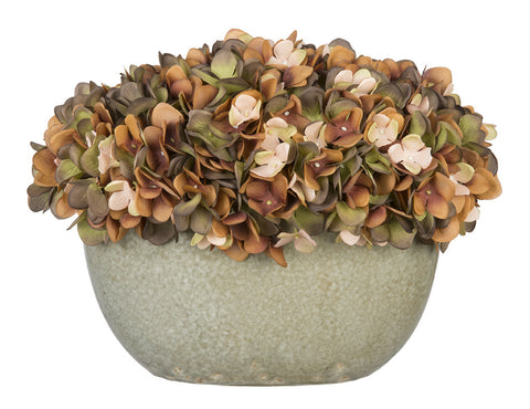Artificial Hydrangea in Grey Crackle Vase - House of Silk Flowers®  - 11