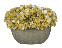 Artificial Hydrangea in Grey Crackle Vase - House of Silk Flowers®  - 13