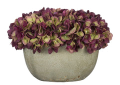 Artificial Hydrangea in Grey Crackle Vase - House of Silk Flowers®  - 15