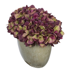Artificial Hydrangea in Grey Crackle Vase - House of Silk Flowers®  - 16