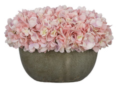 Artificial Hydrangea in Grey Crackle Vase - House of Silk Flowers®  - 17