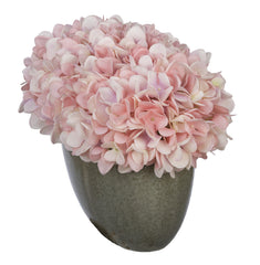Artificial Hydrangea in Grey Crackle Vase - House of Silk Flowers®  - 18