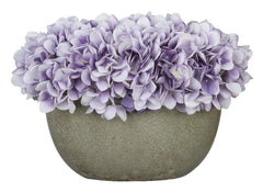 Artificial Hydrangea in Grey Crackle Vase - House of Silk Flowers®  - 21