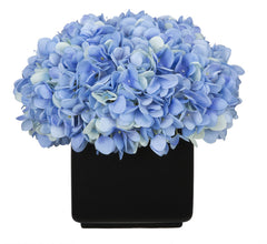Artificial Hydrangea in Large Black Cube Ceramic - House of Silk Flowers®  - 8
