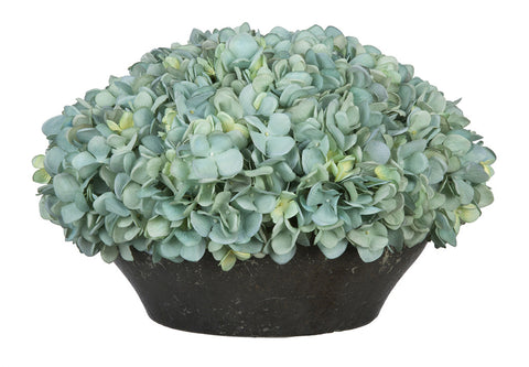 Artificial Hydrangea in Stone-Look Bowl - House of Silk Flowers®  - 10