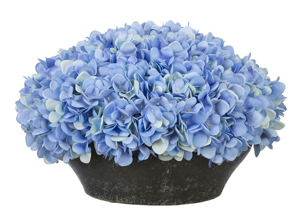 Artificial Hydrangea in Stone-Look Bowl - House of Silk Flowers®  - 4