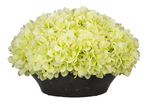 Artificial Hydrangea in Stone-Look Bowl