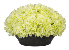 Artificial Hydrangea in Stone-Look Bowl - House of Silk Flowers®  - 1