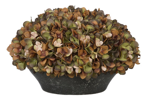 Artificial Hydrangea in Stone-Look Bowl - House of Silk Flowers®  - 5
