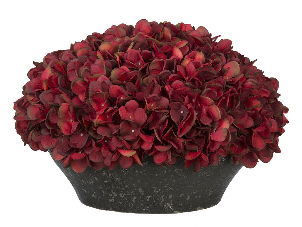 Artificial Hydrangea in Stone-Look Bowl - House of Silk Flowers®  - 2