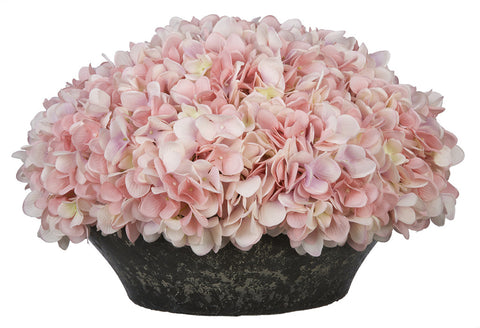 Artificial Hydrangea in Stone-Look Bowl - House of Silk Flowers®  - 8