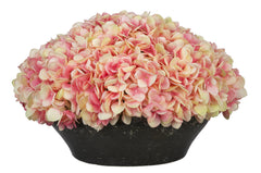 Artificial Hydrangea in Stone-Look Bowl - House of Silk Flowers®  - 9