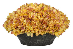 Artificial Hydrangea in Stone-Look Bowl - House of Silk Flowers®  - 12
