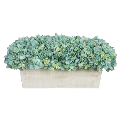 Artificial Hydrangea in White-Washed Wood Ledge - House of Silk Flowers®  - 3