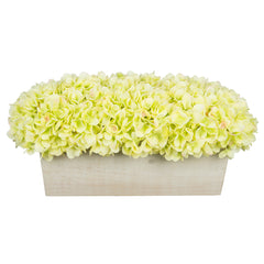 Artificial Hydrangea in White-Washed Wood Ledge - House of Silk Flowers®  - 9
