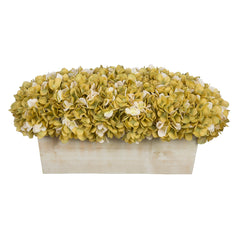 Artificial Hydrangea in White-Washed Wood Ledge - House of Silk Flowers®  - 13