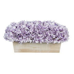 Artificial Hydrangea in White-Washed Wood Ledge - House of Silk Flowers®  - 19