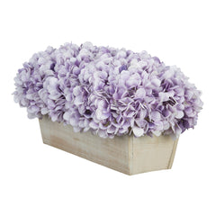 Artificial Hydrangea in White-Washed Wood Ledge - House of Silk Flowers®  - 20