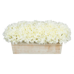 Artificial Hydrangea in White-Washed Wood Ledge - House of Silk Flowers®  - 21