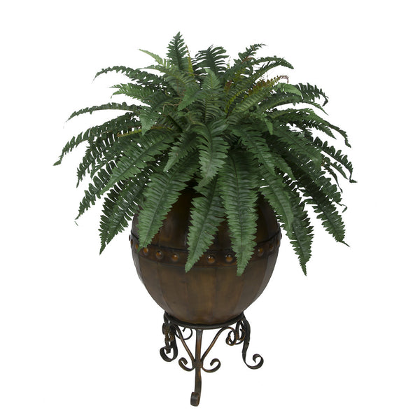 Artificial Fern in Designer Pot with Stand