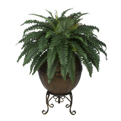 Artificial Fern in Designer Pot with Stand House of Silk Flowers®