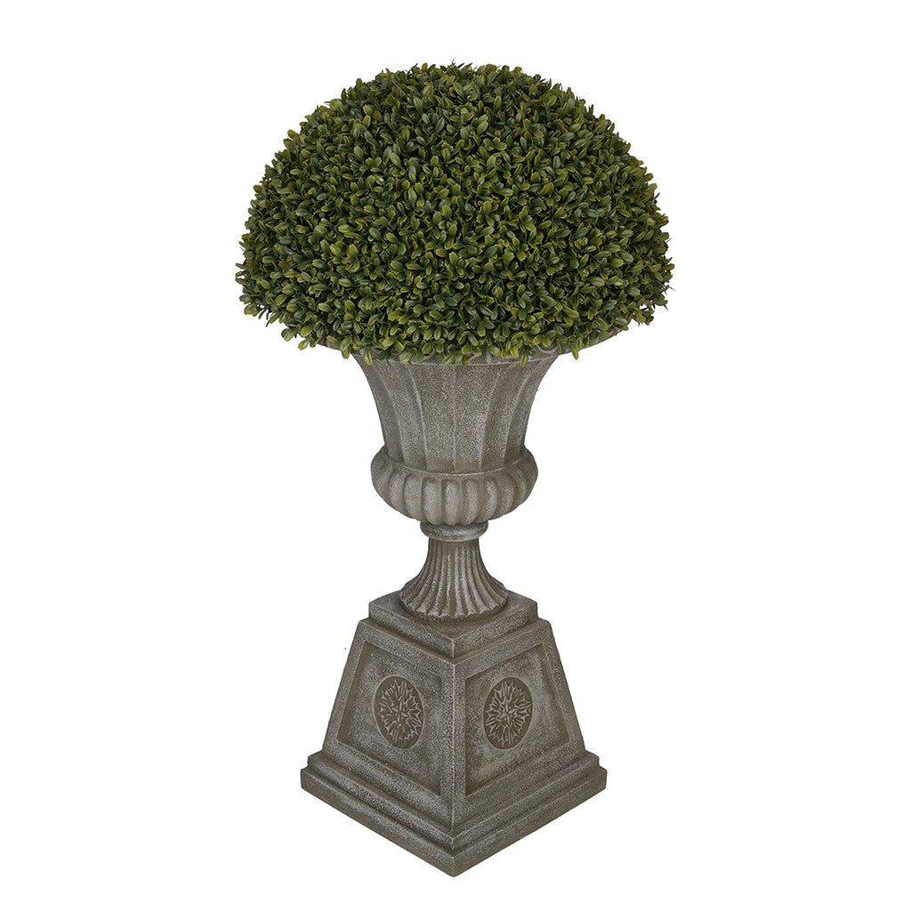 Boxwood Half Ball Topiary in Black Urn House of Silk Flowers®