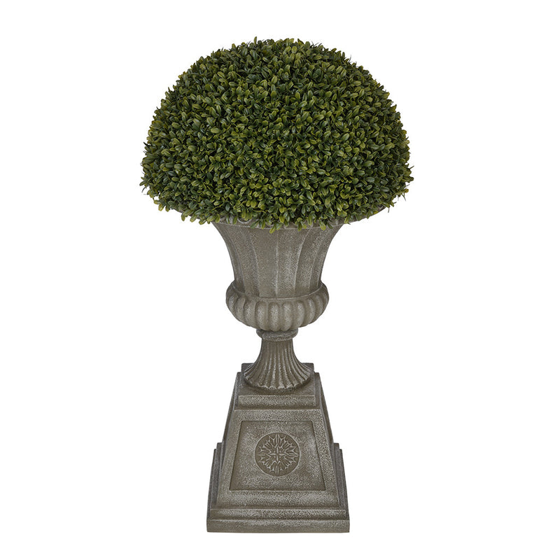 Boxwood Half Ball Topiary in Grey Urn House of Silk Flowers®