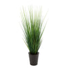 Artificial 44-inch Grass in Round Zinc