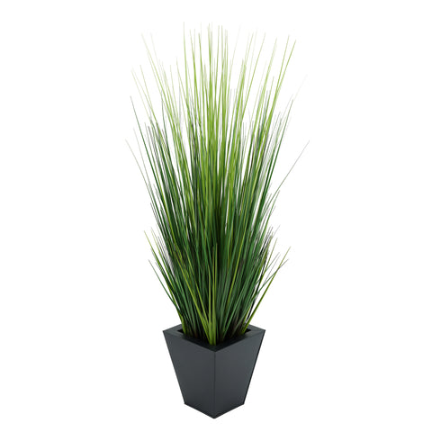 Artificial 44-inch Grass in Square Zinc