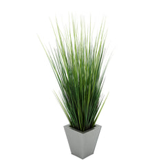 44-inch Grass in Silver Square Zinc
