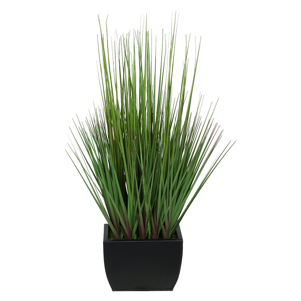 27-inch Grass in Small Rectangle Zinc House of Silk Flowers®