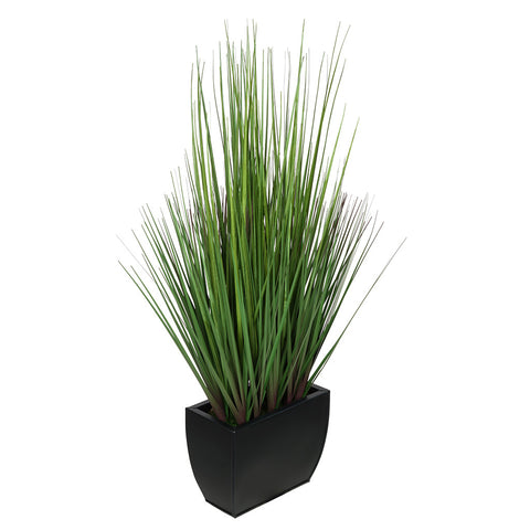 Artificial 27-inch Grass in Small Rectangle Zinc