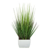 27-inch Grass in Small Cream Rectangle Zinc House of Silk Flowers®