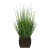 27-inch Grass in Small Matte Brown Rectangle Zinc House of Silk Flowers®