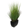 28-inch Grass in Medium Black Rectangle Zinc House of Silk Flowers®