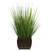 28-inch Grass in Medium Gloss Brown Rectangle Zinc House of Silk Flowers®