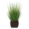 28-inch Grass in Medium Matte Brown Rectangle Zinc House of Silk Flowers®