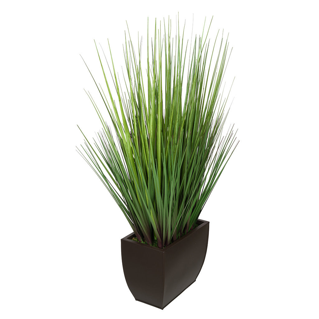 28-inch Grass in Medium Rectangle Zinc House of Silk Flowers®