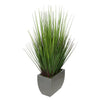 28-inch Grass in Medium Silver Rectangle Zinc House of Silk Flowers®