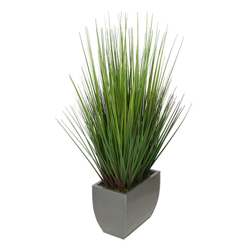 "Artificial 28"" Grass in Medium Rectangle Zinc"
