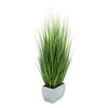 Artificial 50-inch Grass in X-Large Rectangle Zinc House of Silk Flowers®