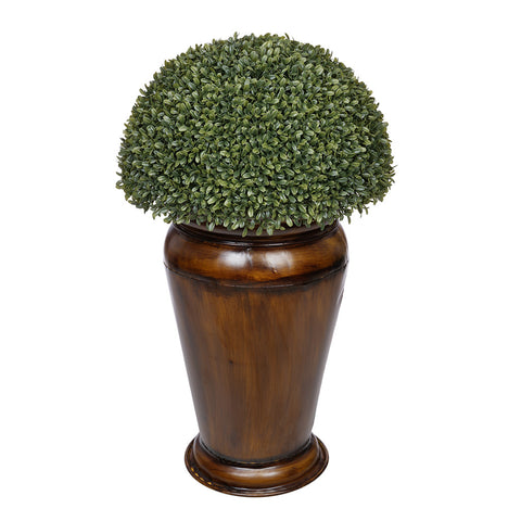 Artificial Boxwood Half Ball Topiary in Designer Metal Planter