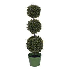 25-inch Triple Ball Boxwood Topiary House of Silk Flowers®